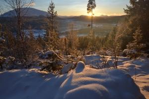Vi tar oss tid til å nyte solnedgang 3. juledag