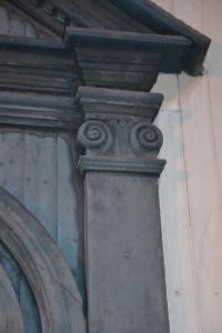 Detalj fra inngangsparti, Tynset kirke