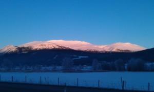Tron en kald januardag, fra Alvdalssida