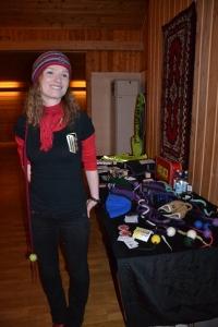 Her er Ane selv, etter en vellykket oppmuntring til Nord Østerdalsbøndene i Heim