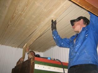 Nytt tak legges i rekordfart (og males umiddelbart etterpå :-) )