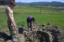 Våre unge gjester fra Tyskaland jobbet iherdig før de reiste hjem