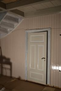 Trappegangen tar form med en lys pudderrosa farge