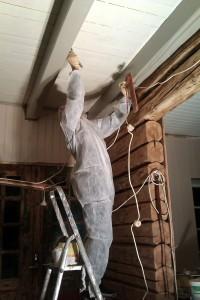 Her i taket  er det også viktig å være stø på hånda og i tillegg holde balansen