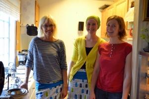 Tre av de fire som var tilstede denne dagen: Line, Anette og Hege