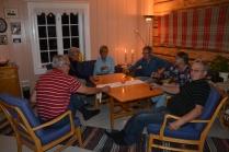 Her har vi våre gode venner Per og Birgit fra Danmark og bondens slektninger Bodil og Nils erik fra Tromsø