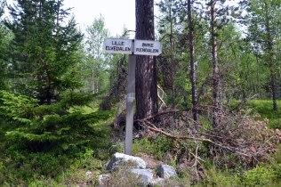 Lille Elvedalen - det gamle navnet på Alvdal, her på grensen til Rendalen, den gang Øvre Rendalen var egen kommune.