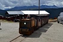 Toget som skulle frakte oss inn i berget