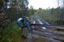 Det er helt nødvendig med godt fottøy - regnet har gjort det svært vått!