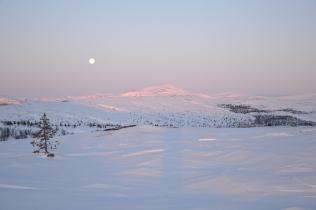 Månen henger fortsatt over Rødalshøa