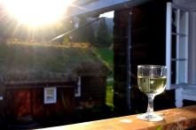 Den såkalte champagneverandaen blir også flittig bruk disse varme kveldene